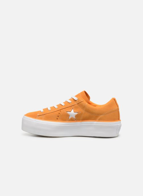 Trainers Converse One Star Platform Lift Me Up Ox Orange front view