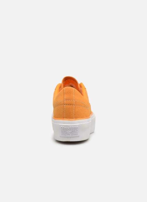 Trainers Converse One Star Platform Lift Me Up Ox Orange view from the right
