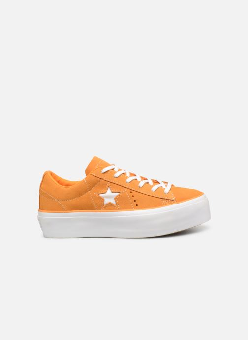 Trainers Converse One Star Platform Lift Me Up Ox Orange back view
