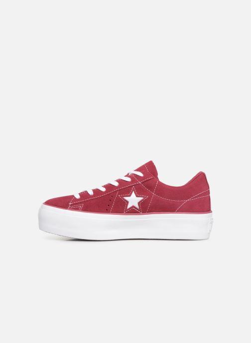 Sneaker Converse One Star Platform Lift Me Up Ox weinrot ansicht von vorne