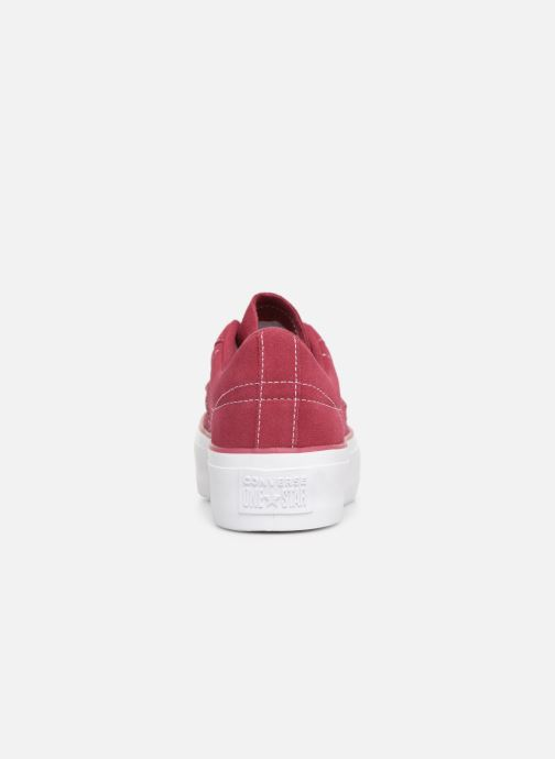 Trainers Converse One Star Platform Lift Me Up Ox Burgundy view from the right