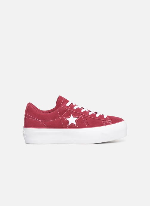 Sneaker Converse One Star Platform Lift Me Up Ox weinrot ansicht von hinten