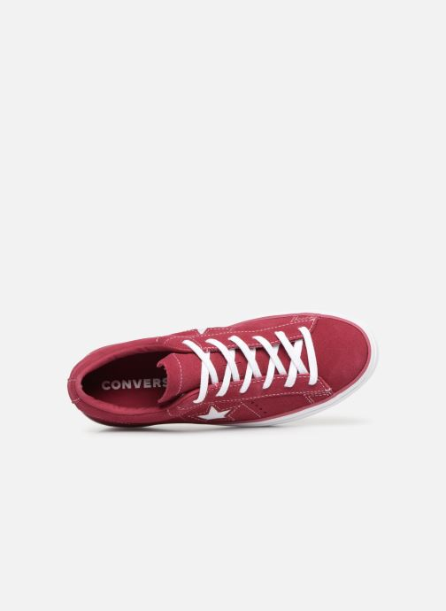 Trainers Converse One Star Platform Lift Me Up Ox Burgundy view from the left