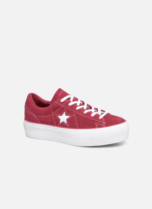 Trainers Converse One Star Platform Lift Me Up Ox Burgundy detailed view/ Pair view