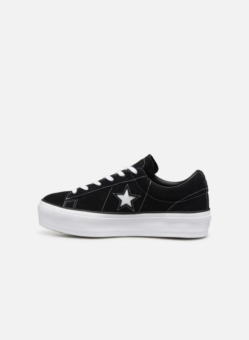 Trainers Converse One Star Platform Lift Me Up Ox Black front view