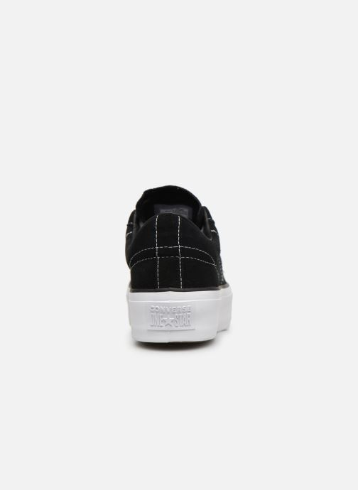 Sneakers Converse One Star Platform Lift Me Up Ox Zwart rechts