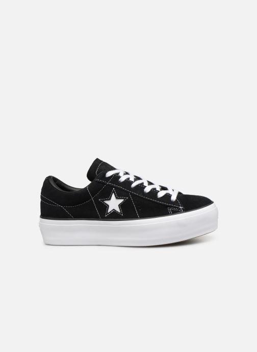 Sneakers Converse One Star Platform Lift Me Up Ox Zwart achterkant