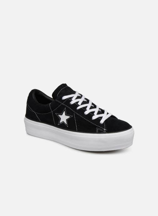 Sneakers Converse One Star Platform Lift Me Up Ox Zwart detail
