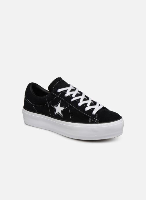 Sneakers Converse One Star Platform Lift Me Up Ox Zwart detail