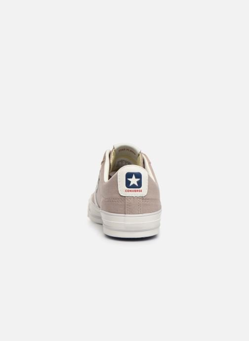 Trainers Converse Star Player Canvas/Suede Ox Brown view from the right