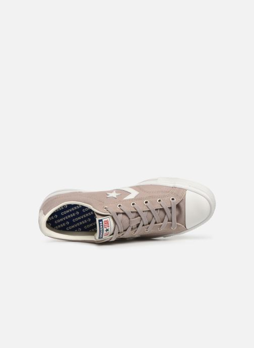 Trainers Converse Star Player Canvas/Suede Ox Brown view from the left