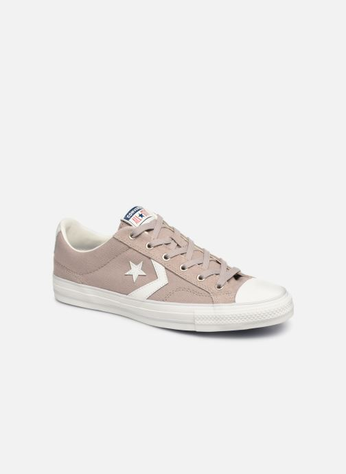 Trainers Converse Star Player Canvas/Suede Ox Brown detailed view/ Pair view