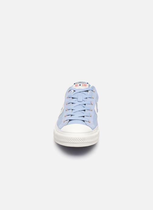 Sneaker Converse Star Player Canvas/Suede Ox blau schuhe getragen