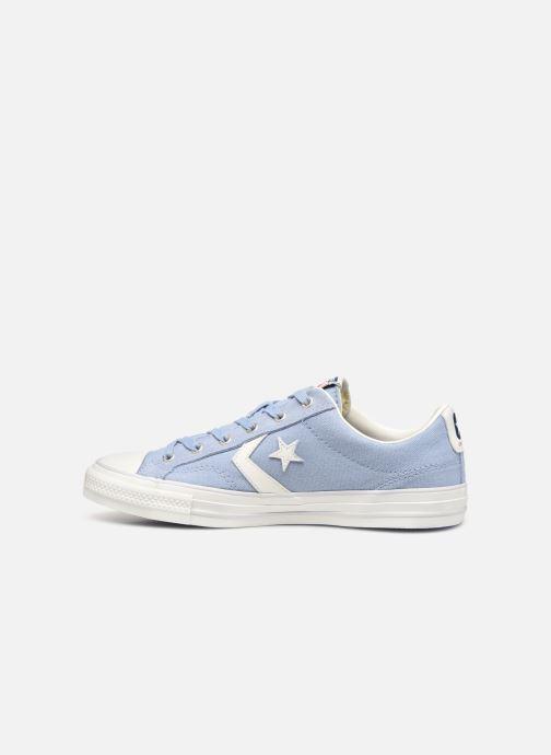 Sneaker Converse Star Player Canvas/Suede Ox blau ansicht von vorne