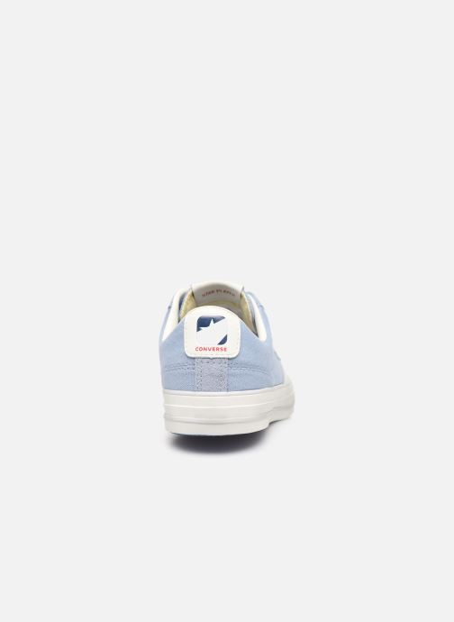 Baskets Converse Star Player Canvas/Suede Ox Bleu vue droite