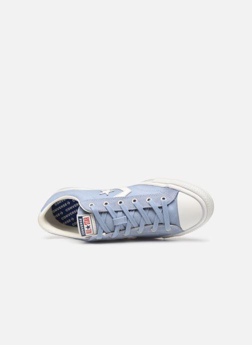 Sneaker Converse Star Player Canvas/Suede Ox blau ansicht von links
