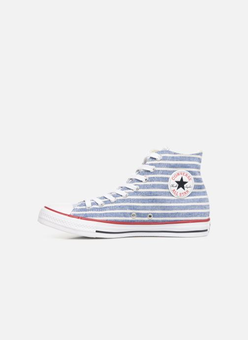 Baskets Converse Chuck Taylor All Star Multi Stripes Hi Bleu vue face