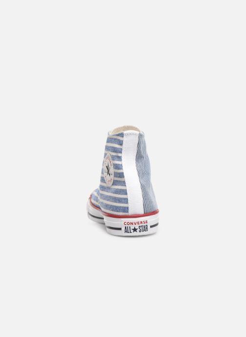 Sneakers Converse Chuck Taylor All Star Multi Stripes Hi Blauw rechts
