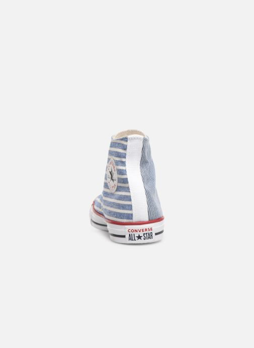 Baskets Converse Chuck Taylor All Star Multi Stripes Hi Bleu vue droite