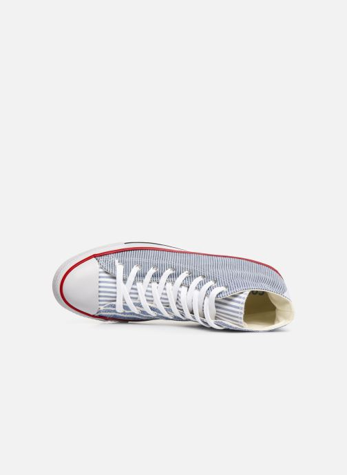 Baskets Converse Chuck Taylor All Star Multi Stripes Hi Bleu vue gauche
