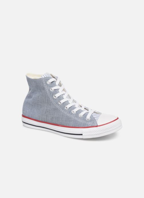 Baskets Converse Chuck Taylor All Star Multi Stripes Hi Bleu vue détail/paire