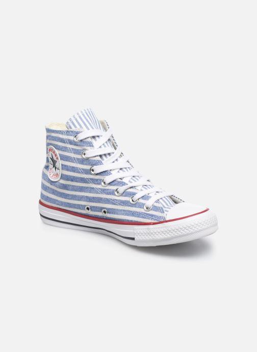 Deportivas Converse Chuck Taylor All Star Multi Stripes Hi W Azul vista de detalle / par