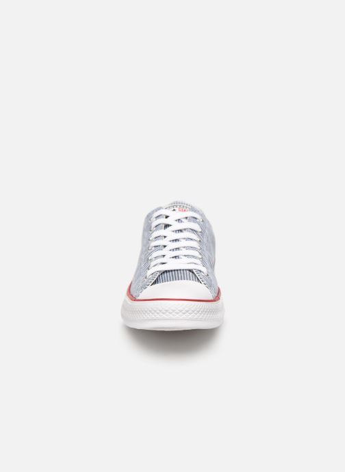 Baskets Converse Chuck Taylor All Star Stripes Ox Gris vue portées chaussures
