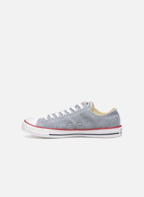 Trainers Converse Chuck Taylor All Star Stripes Ox Grey front view