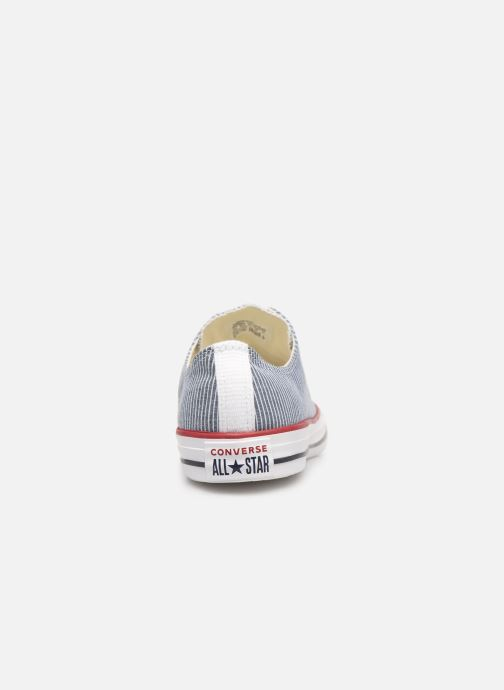 Trainers Converse Chuck Taylor All Star Stripes Ox Grey view from the right
