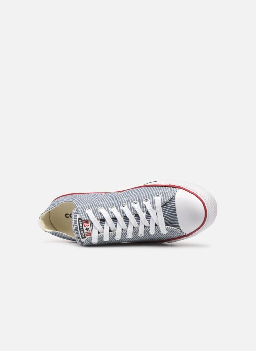 Trainers Converse Chuck Taylor All Star Stripes Ox Grey view from the left