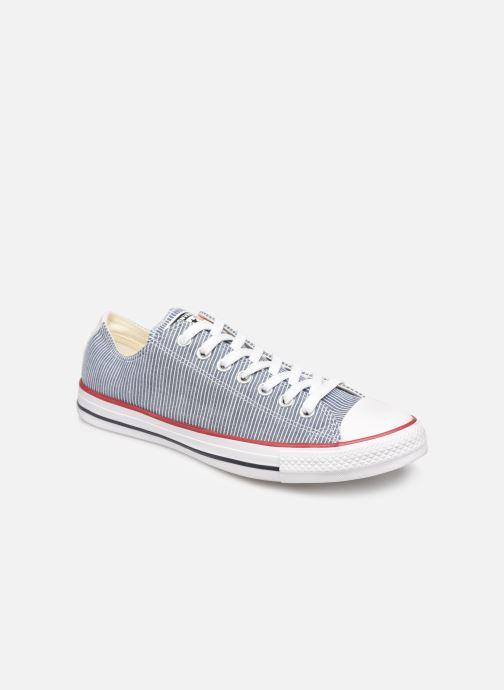 Trainers Converse Chuck Taylor All Star Stripes Ox Grey detailed view/ Pair view