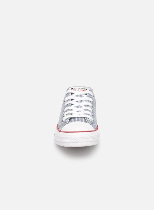 Sneaker Converse Chuck Taylor All Star Stripes Ox W blau schuhe getragen