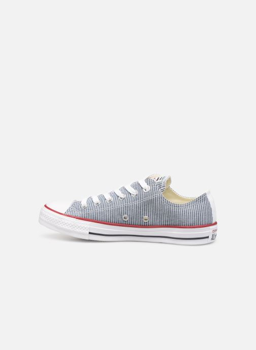 Sneakers Converse Chuck Taylor All Star Stripes Ox W Blauw voorkant