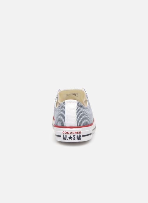 Baskets Converse Chuck Taylor All Star Stripes Ox W Bleu vue droite