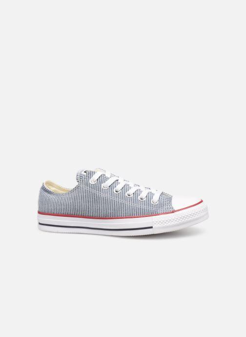 Sneaker Converse Chuck Taylor All Star Stripes Ox W blau ansicht von hinten