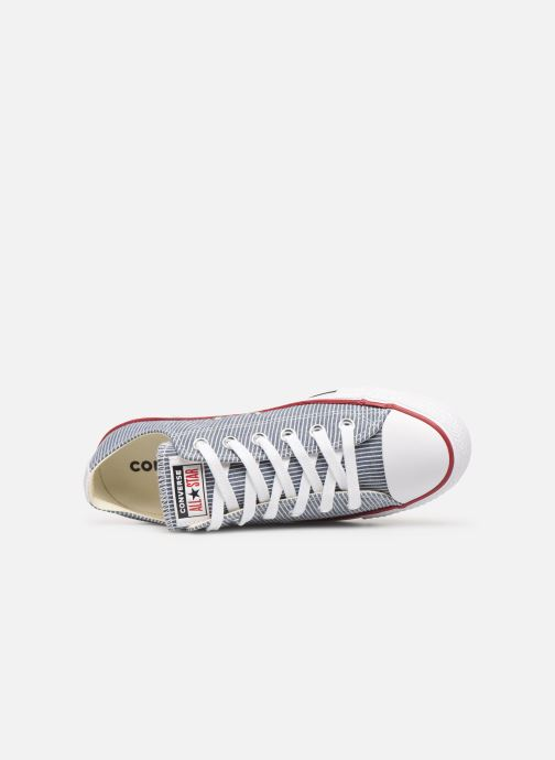 Sneaker Converse Chuck Taylor All Star Stripes Ox W blau ansicht von links