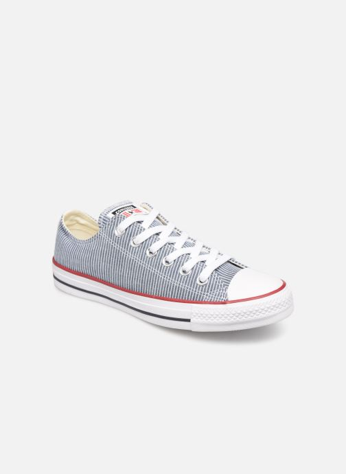 Baskets Converse Chuck Taylor All Star Stripes Ox W Bleu vue détail/paire