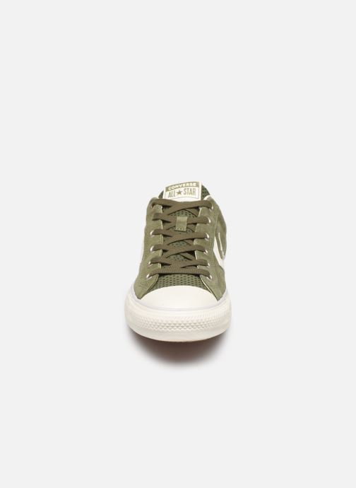 Baskets Converse Star Player Suede Ox Vert vue portées chaussures