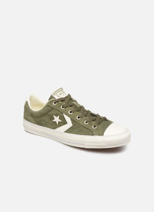 Trainers Converse Star Player Suede Ox Green detailed view/ Pair view