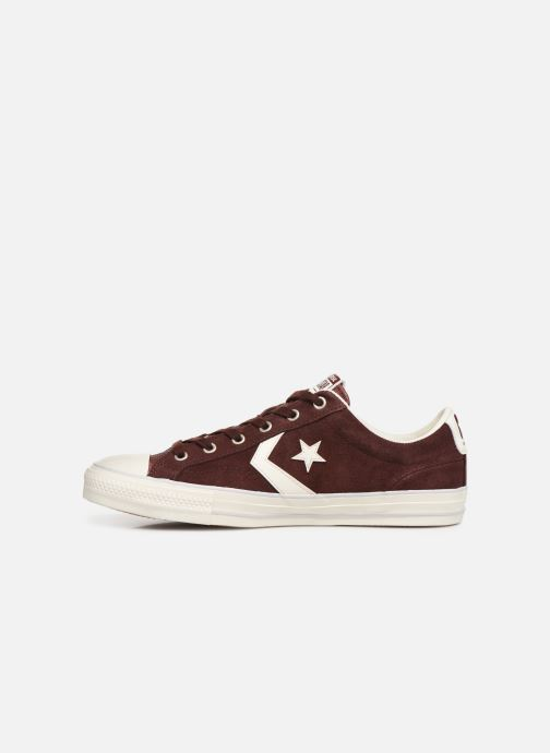 Trainers Converse Star Player Suede Ox Brown front view