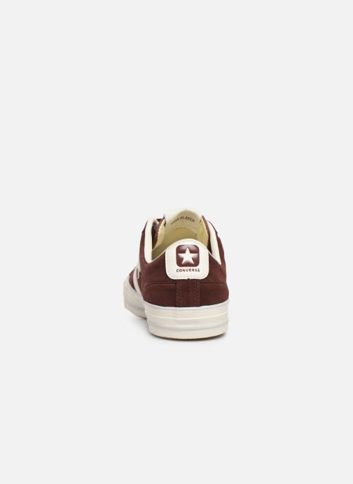 Trainers Converse Star Player Suede Ox Brown view from the right