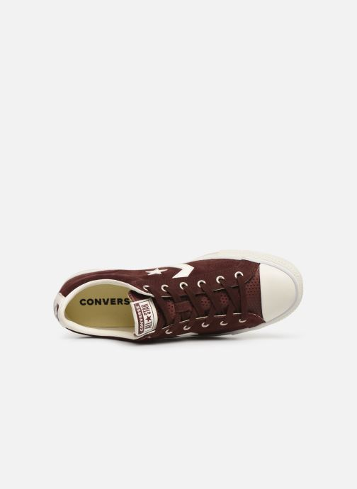 Trainers Converse Star Player Suede Ox Brown view from the left
