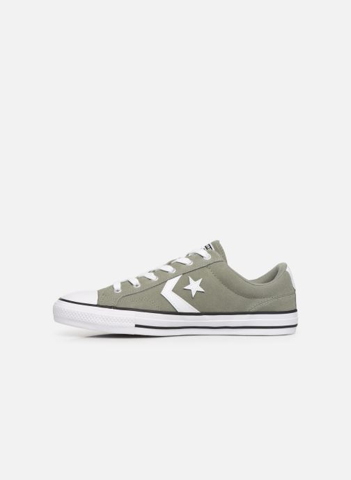 Baskets Converse Star Player Suede Ox Vert vue face
