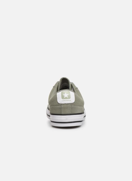 Trainers Converse Star Player Suede Ox Green view from the right