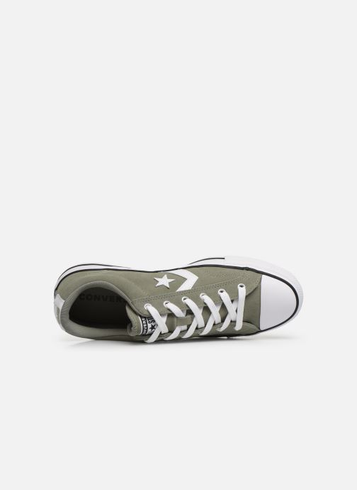 Trainers Converse Star Player Suede Ox Green view from the left