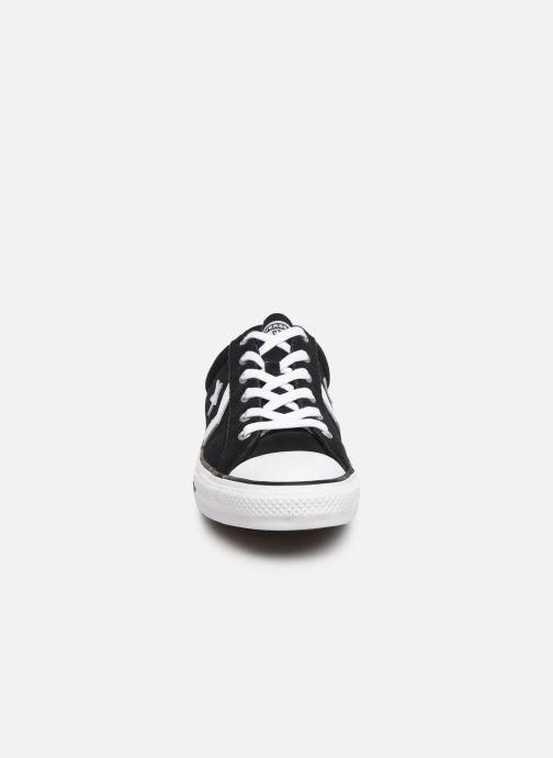 Sneaker Converse Star Player Suede Ox schwarz schuhe getragen