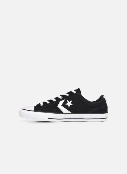 Baskets Converse Star Player Suede Ox Noir vue face