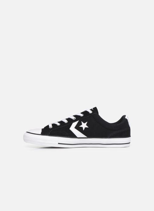 Sneaker Converse Star Player Suede Ox schwarz ansicht von vorne