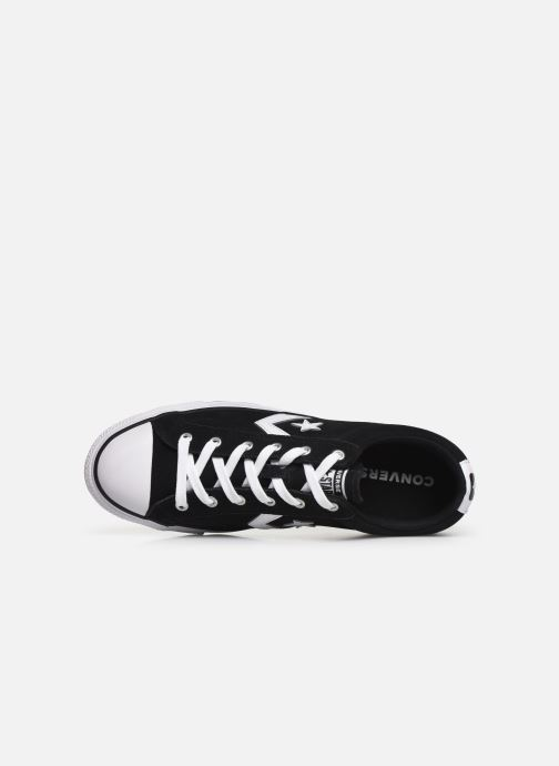 Trainers Converse Star Player Suede Ox Black view from the left