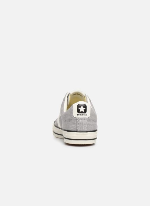 Trainers Converse Star Player Vitnage Canvas Ox Grey view from the right